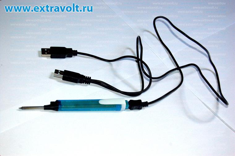 """Некоторые  """"теоретики """" заявляют, что мол два USB-порта, выдают всего 5 Ватт мощности и ими ничего не запаяешь."""